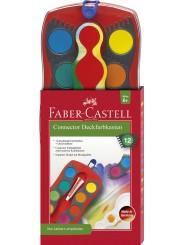 Faber-Castell CONNECTOR Farbkasten · 12 Farben · inkl. Deckweiß