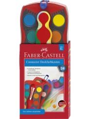 Faber-Castell CONNECTOR Farbkasten · 24 Farben · inkl. Deckweiß
