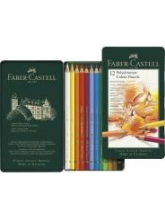 Faber-Castell Künstlerfarbstifte Polychromos · 12 Farben im Metalletui