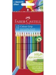 Faber-Castell Farbstift Colour GRIP · 12 Farben  im Kartonetui