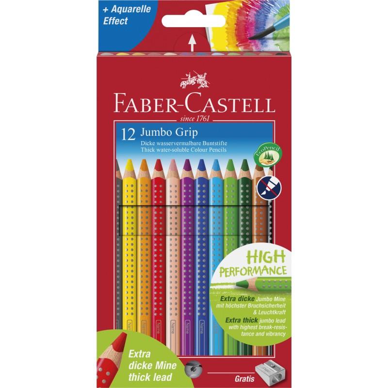 Faber-Castell Farbstift Jumbo GRIP · 12 Farben  im Kartonetui.