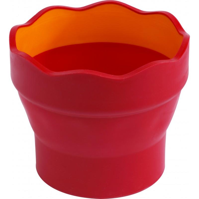 Faber-Castell Wasserbecher CLIC & GO · rot
