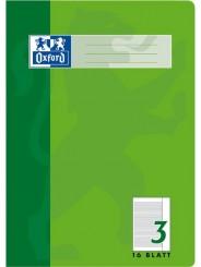 Oxford Schulheft A4 · Lineatur 3R mit Rand rechts · 90 g/m² · 16 Blatt