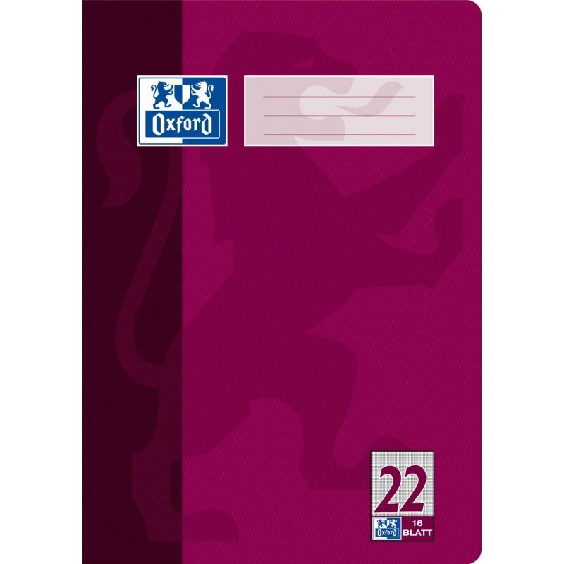 Oxford Schulheft A4 · Lineatur 22 (kariert) · 90 g/m²  · 16 Blatt