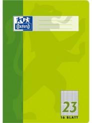 Oxford Schulheft A4 · Lineatur 23 (rautiert) · 90 g/m² · 16 Blatt