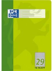 Oxford Schulheft A4 · Lineatur 29 (rautiert · beidseitiger Rand) · 90 g/m² · 16 Blatt