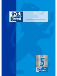 Oxford Schulheft A5 · Lineatur 5 (kariert 5 mm) · 90 g/m² · 16 Blatt