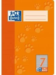 Oxford Schulheft A5 · Lineatur 7 (kariert 7 mm) · 90 g/m² · 16 Blatt