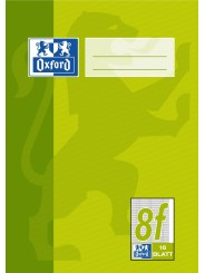 Oxford Schulheft A5 · Lineatur 8f (rautiert · weißer Rand rechts) · 90 g/m² ·16 Blatt