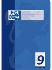 Oxford Schulheft A5 · Lineatur 9 (liniert · weißer Rand rechts) · 90 g/m² ·16 Blatt
