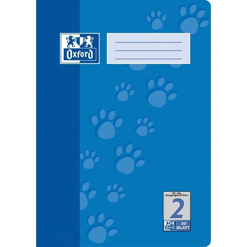 Oxford Doppelheft A4 · Lineatur 2 · 90 g/m²  · 32 Blatt