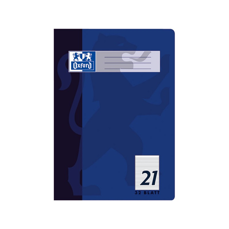 Oxford Doppelheft A4 · Lineatur 21 (liniert) · 90 g/m²  · 32 Blatt