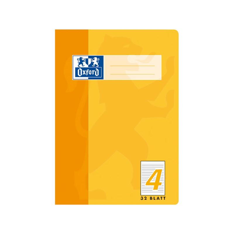 Oxford Doppelheft A5 · Lineatur 4 (liniert · 9mm) · 90 g/m²  · 32 Blatt