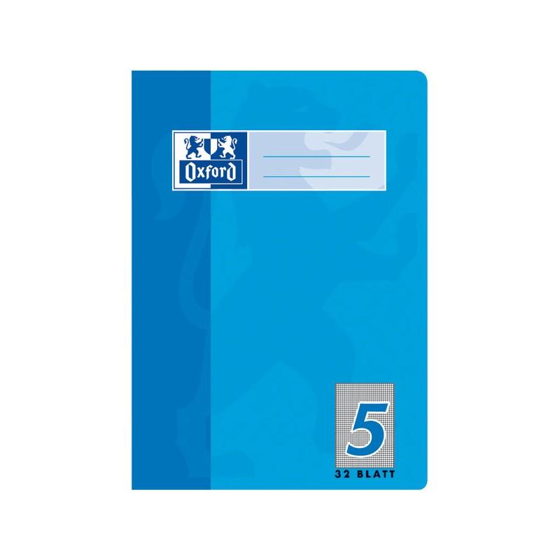 Oxford Doppelheft A5 · Lineatur 5 (kariert 5 mm) 90 g/m² · 32 Blatt