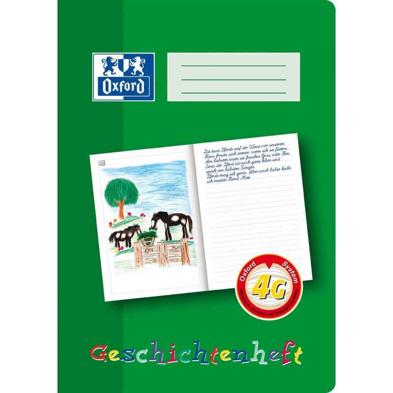 Oxford Geschichtenheft A4 · Lineatur 4G · 90 g/m² · 16 Blatt