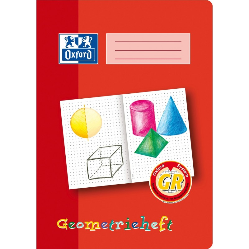 Oxford Geometrieheft A4 · Lineatur GR · 90 g/m² · 16 Blatt