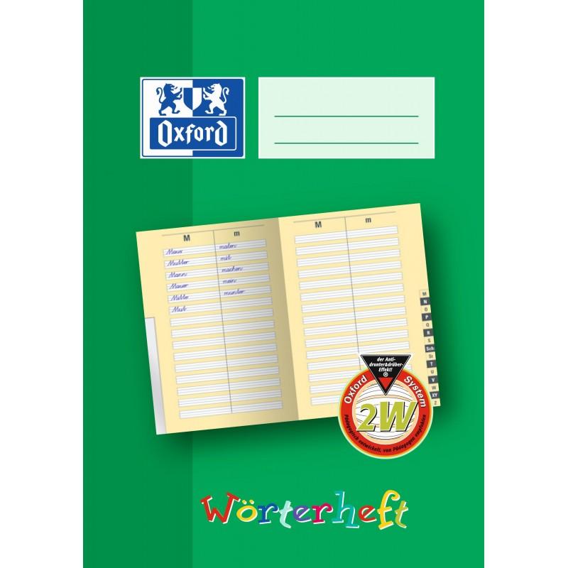 Oxford Wörterheft A5 · Lineatur 2W (2. Schuljahr) · 90g/m² · 28 Blatt