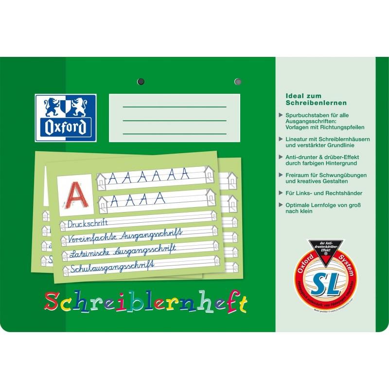Oxford Schreiblernheft A4 quer · Lineatur SL · 90 g/m²