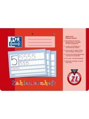 Oxford Zahlenlernheft A4 quer · Lineatur ZL · 90 g/m²