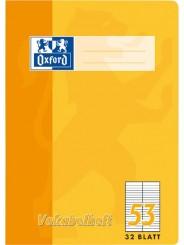 Oxford Vokabelheft A6 · Lineatur 53 (2 Spalten) · 90 g/m² · 32 Blatt