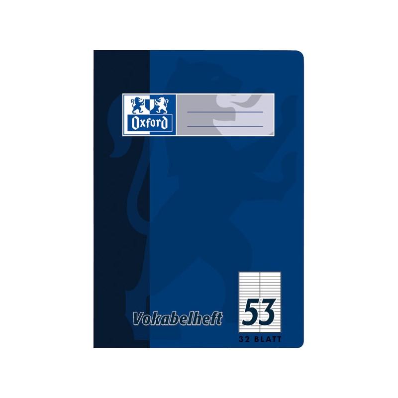 Oxford Vokabelheft A5 · Lineatur 53 (2 Spalten) · 90 g/m² · 32 Blatt