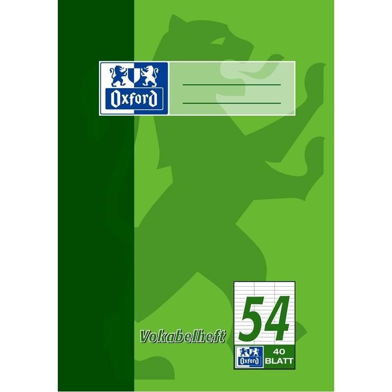 Oxford Vokabelheft A5 · Lineatur 54 (3 Spalten) · 90 g/m² · 40 Blatt