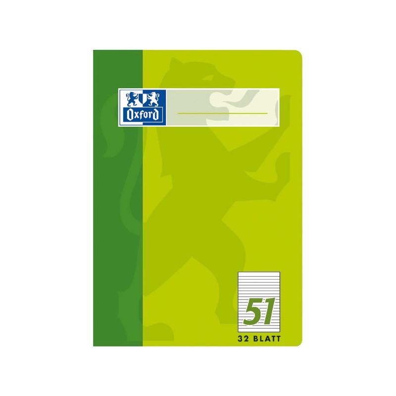Oxford Oktavheft A6 · Lineatur 51 (liniert) · 90 g/m² · 32 Blatt