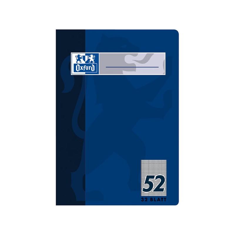 Oxford Oktavheft A6 · Lineatur 52 (kariert) · 90 g/m² · 32 Blatt