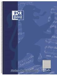 Oxford Noten-Collegeblock A4+ · Lineatur 14 (ohne Hilfslinien) · 90 g/m² · 50 Blatt