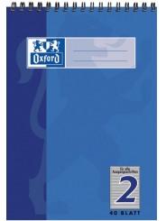 Oxford Schulblock A5 · mit Kopfspirale · Lineatur 2 · 90 g/m² · 40 Blatt