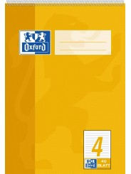Oxford Schulblock A5 · mit Kopfspirale · Lineatur 4  · 90 g/m² · 40 Blatt