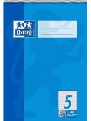Oxford Schulblock A5 · mit Kopfspirale · Lineatur 5 · 90 g/m² · 40 Blatt