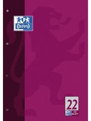 Oxford Schulblock A4 · Lineatur 22 (kariert) · 90 g/m² · 50 Blatt