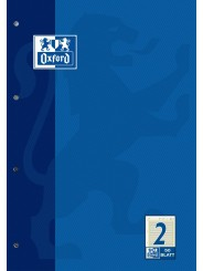 Oxford Arbeitsblock A4 · Lineatur 2 · 90 g/m²  · 50 Blatt