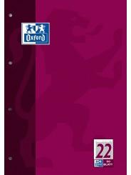Oxford Arbeitsblock A4 · Lineatur 22 (kariert) · 90 g/m² · 50 Blatt