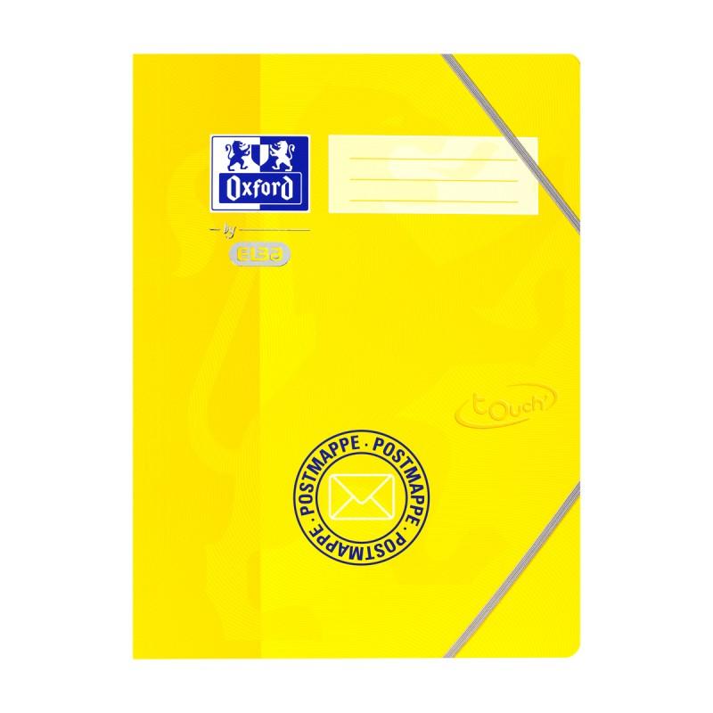 Oxford Postmappe Oxford by ELBA Touch Oberfläche · A4+ · inkl. 3 Einschlagklappen · gelb