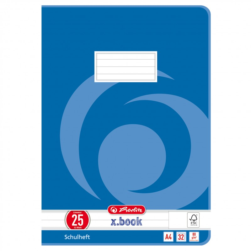 Herlitz Doppelheft A4 · Lineatur 25 · 80 g/m² · 32 Blatt