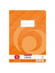 Herlitz Notenheft A4 · Lineatur 14 (ohne Hilfslinien) · 80 g/m² · 8 Blatt