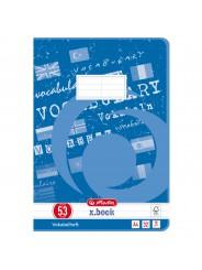 Herlitz Vokabelheft A4 · Lineatur 53 (2 Spalten) · 80 g/m² · 32 Blatt