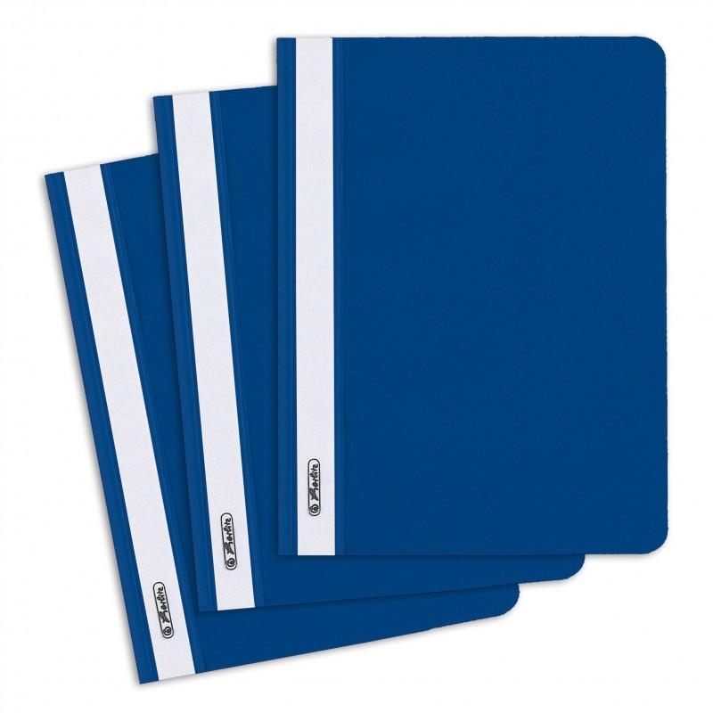 Herlitz Schnellhefter A5 · PP-Folie · blau