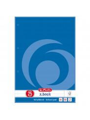 Herlitz Schulblock · A4 · Lineatur 25 (liniert mit Rand) · 70 g/m² · 50 Blatt