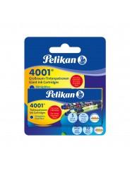 Pelikan Tintenpatrone 4001® für Lamy-Füllhalter · königsblau · Blister mit 2 Etuis à 5 Patronen