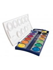 Pelikan Deckfarbkasten 735/K12 · mit 12 Farben + Deckweiß