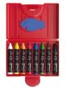 Pelikan Wachsmalstift  665/8 · dreieckig · wasserfest · 8 Farben · Box mit 8 Stück + 1 Schaber
