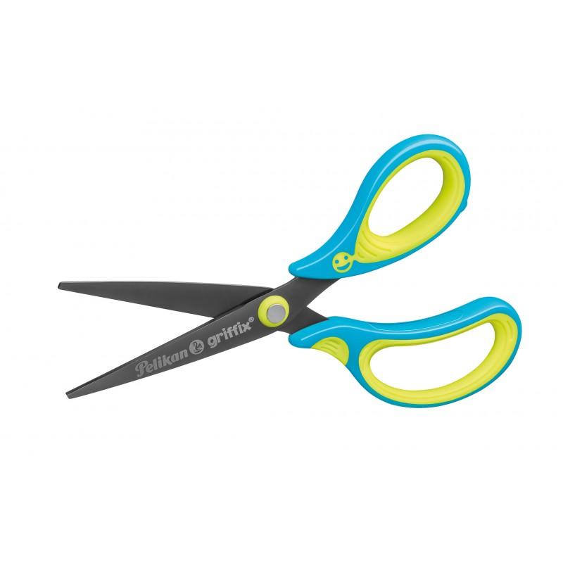 Pelikan Schulschere griffix spitz · neon fresh Blue · Rechts-/Linkshänder