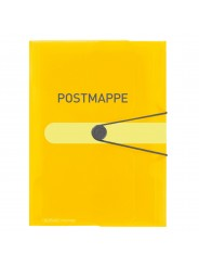 Herlitz Postmappe A4 ·  transparent Kunststoff gelb ·  easy orga to go Gummizugmappe