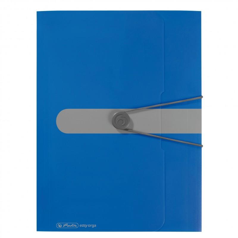 Herlitz Gummizugmappe A4 PP-Kunststoff · opak blau easy orga to go