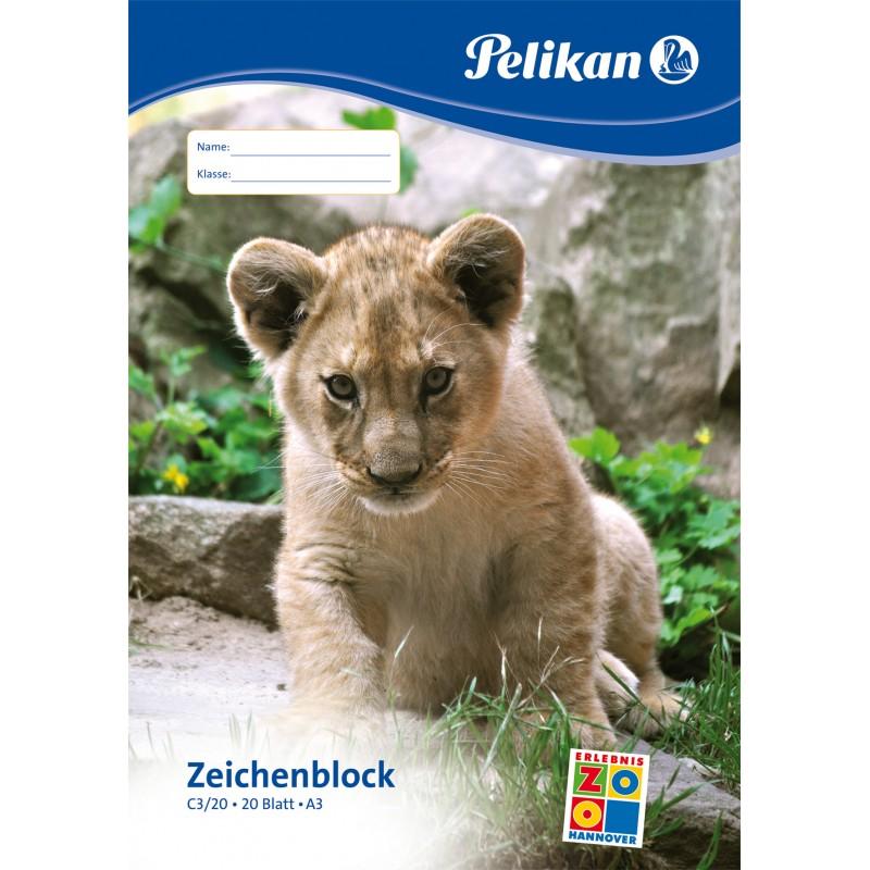 Pelikan Zeichenblock C3/20 · A3 · 100 g/m² ·20 Blatt