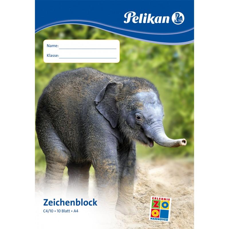 Pelikan Zeichenblock C4/10 · A4 · 100 g/m² ·10 Blatt