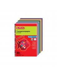 Herlitz Transparentpapier · 20 cm x 30 cm · 40 g/m² · 10 Blatt (versch. Farben)